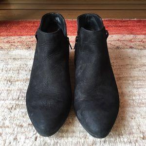 Paul Green Nubuck Bootie, Black, Size 5.5UK, 8US